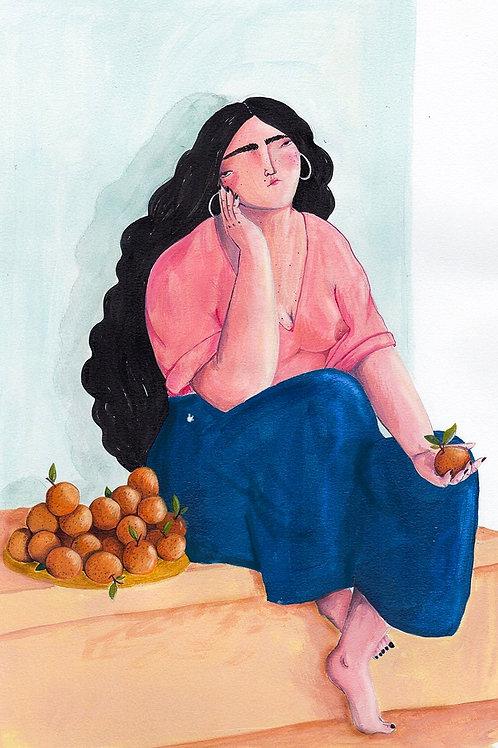 Eva Zurita. La chica de las naranjas