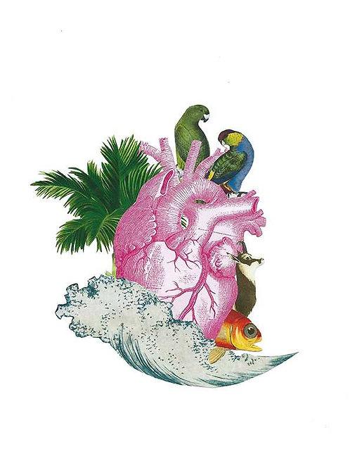 Randomagus. The heart at the beach
