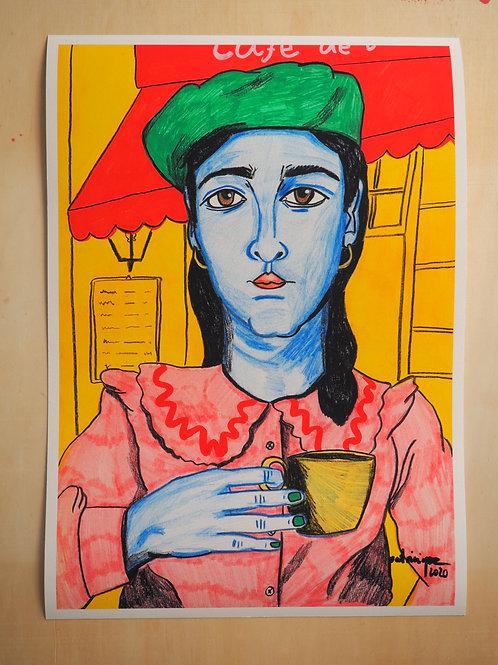 Patricia Paz. Print Cliché