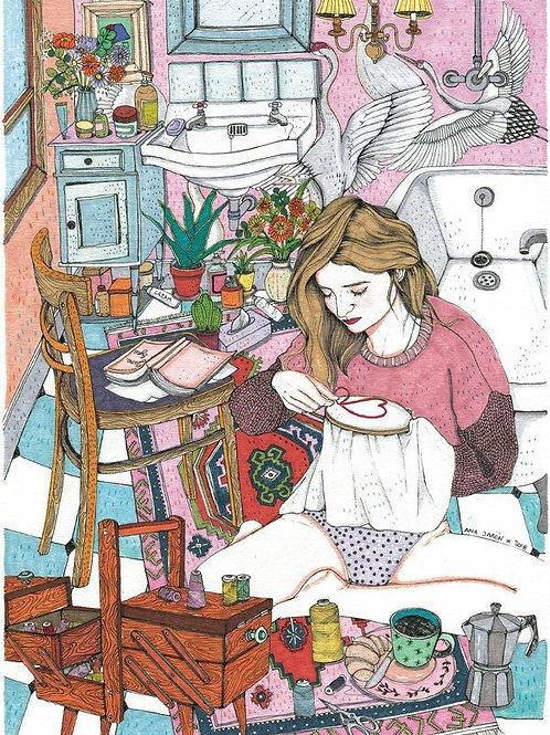 Ana Jarén. Embroidery