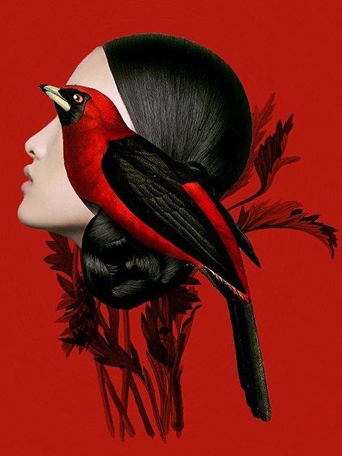 Teresa Cucala. Japonesa y pájaro