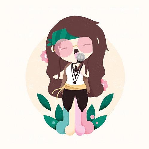 Sara Gummy. Janis Joplin