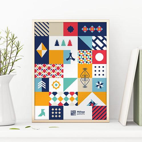 Málaga Patterns. Poster Colorful Patterns