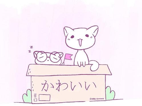 Sara Gummy. Kawaii Cats