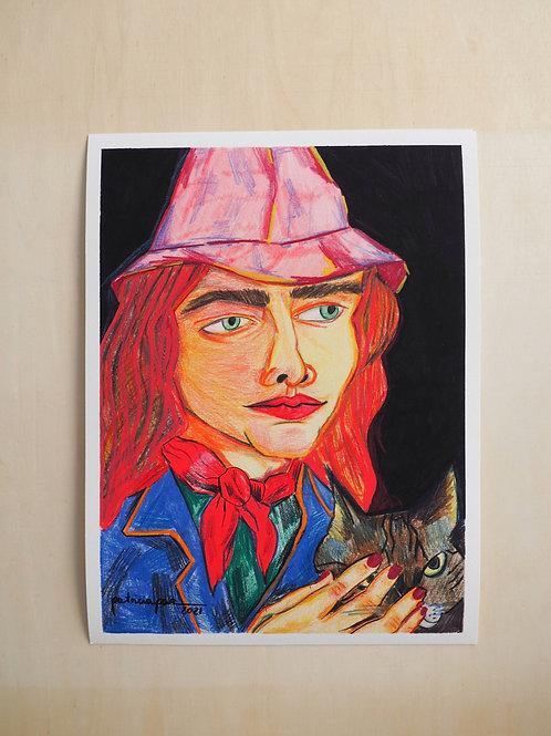 Patricia Paz. Print Cualquiera y gato