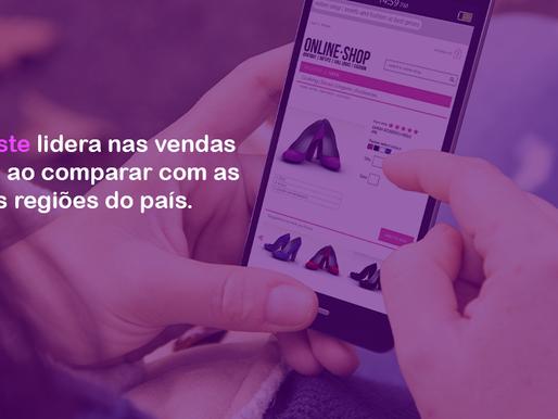 Nordeste lidera nas vendas online com crescimento de 66,92% em novembro ante mês anterior