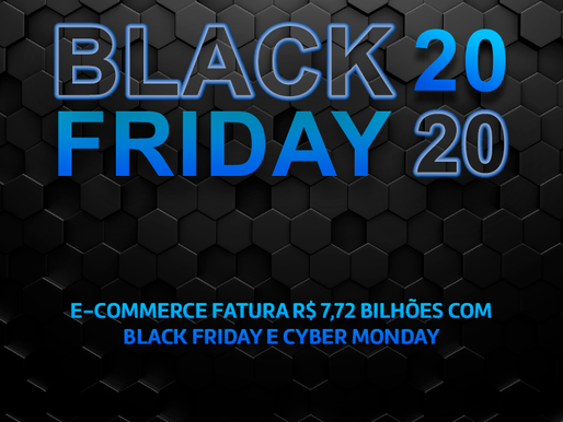 Black Friday e Cyber Monday: E-commerce fatura R$ 7,72 bilhões