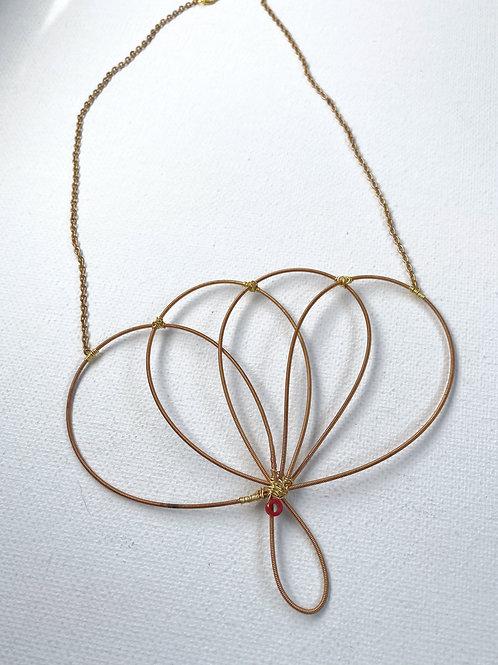 Lotus Guitar String Necklace