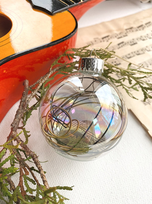 RErooted Guitar Strings & Sheet Music Ornament