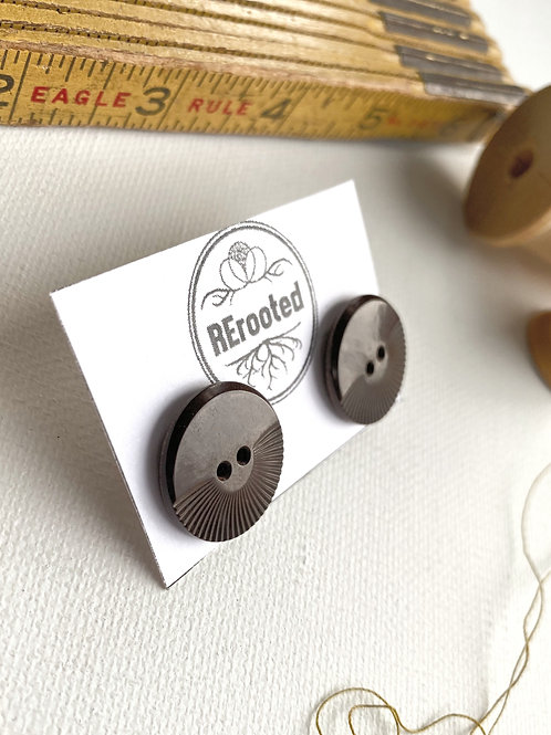 Vintage Button Earrings