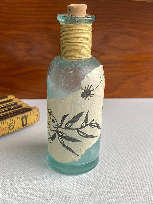 Vintage Light Blue Glass Bottle