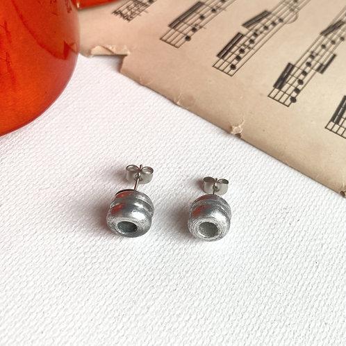 Cello String End Ball Stud Earrings