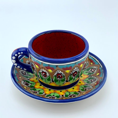 Espresso cup with a saucer