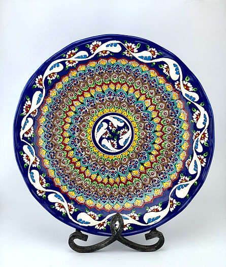 hand painted ceramic plate. grate for any kind of gift. wedding gift idea.