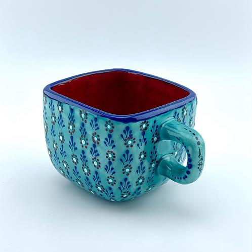 Turquaze square mug