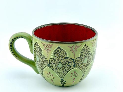 Green glaze mug