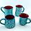 Thumbnail: Turquoise mug rain of flowers