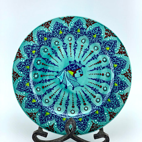 Turquoise fish plate