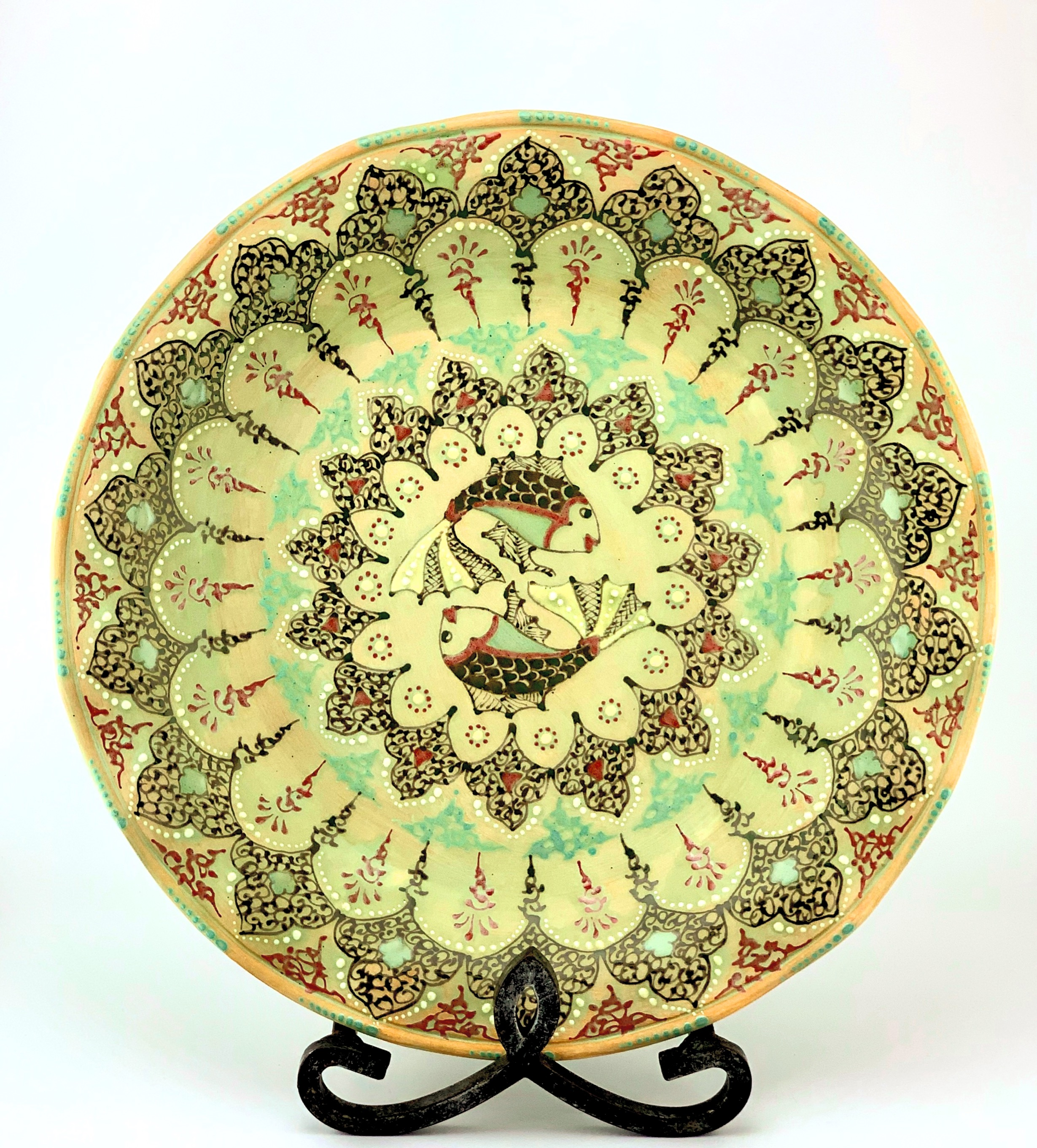 Green Turquoise Plate