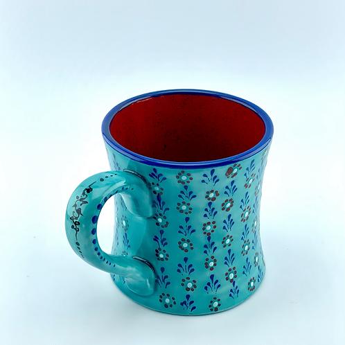 Turquoise mug reign of flowers