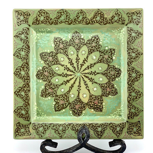 Traditional green designed plate