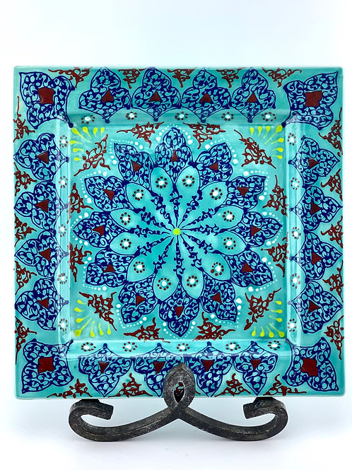 Turquoise  Traditionald esigned plate