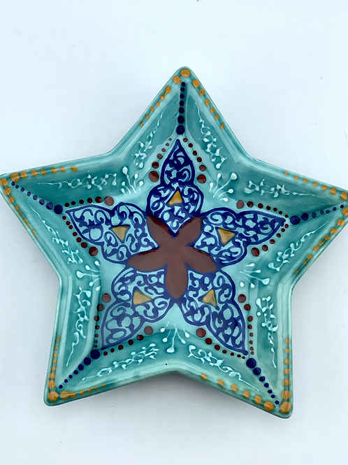 Turquoise star dish
