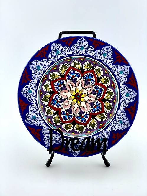 Garden designed plate