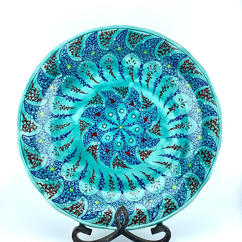 Turquoise traditional plate