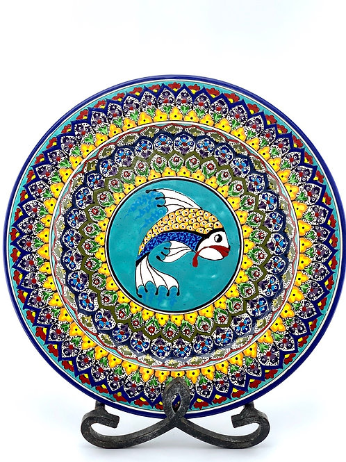 Garden fish designed plate
