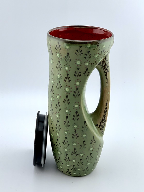 Green to go mug