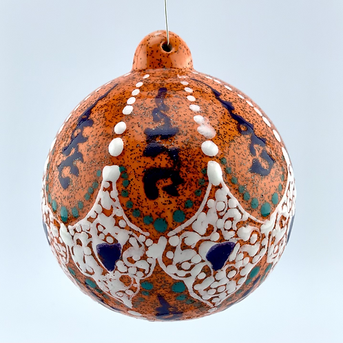 Orange ornament with stand
