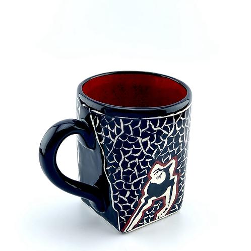 Black and white historical coffee mug