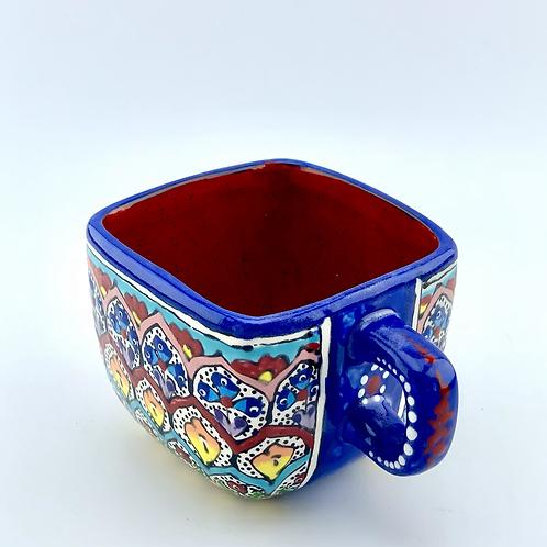 Garden designed square mug