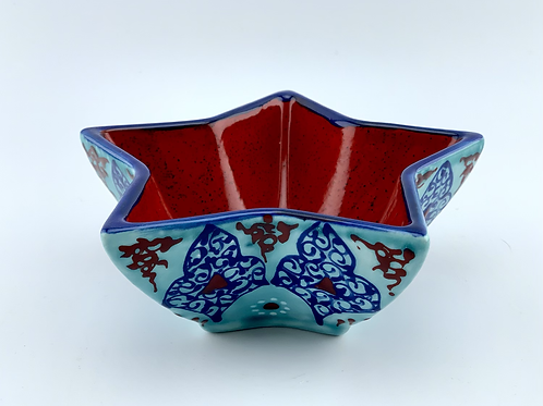 Turquoise star bowl