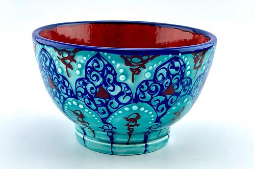 Turquoise ceramic bowl