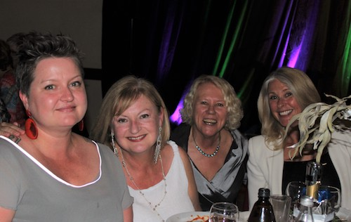 Eloise Forbes,  Carolyn Dennis, Liz and Tracey Spicer at the Zonta IWD Dinner 2018