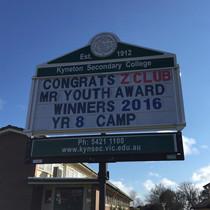 KSC Z Club Win Youth Award