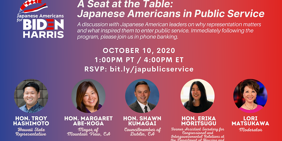 A Seat at the Table: Japanese Americans in Public Service