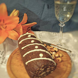 T-9 Pastel de galletas y chocolate