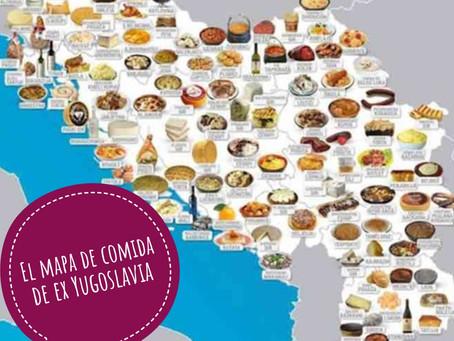 El mapa culinario de ex Yugoslavia. En los próximos publicaciones os voy a presentar algunas recetas