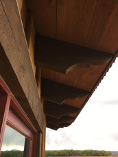 Installed corbels and custom wood soffit