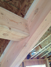 Interior beams milled and installed