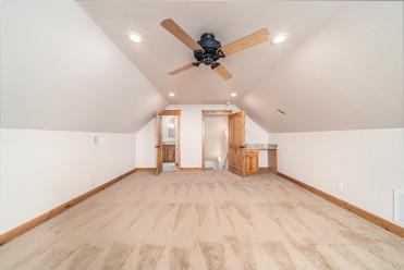Bonus room above garage featuring full b