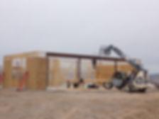 Framing 3000 sq ft shop