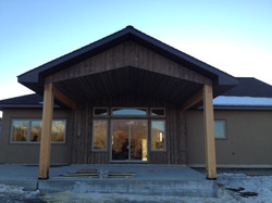 Beautiful wood porch soffit and siding