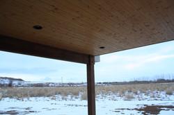 Back porch wood soffit
