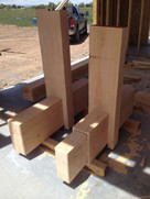 Milled and constructed custom interior beam work