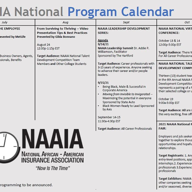 Upcoming National NAAIA Events