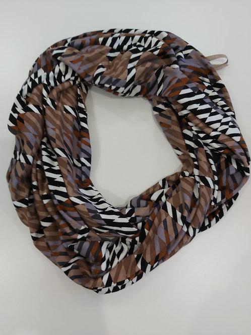 Loopschal Brown Zebra